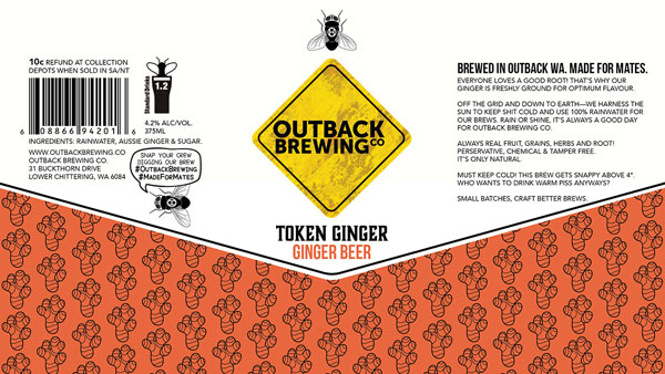 Ponderlust OB Ginger Beer Can Design