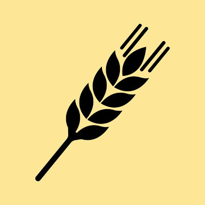 OB Wheat beer icon yellow background